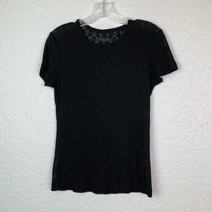 Rag and Bone Sz XS sheer black lace shirt GUC pill
